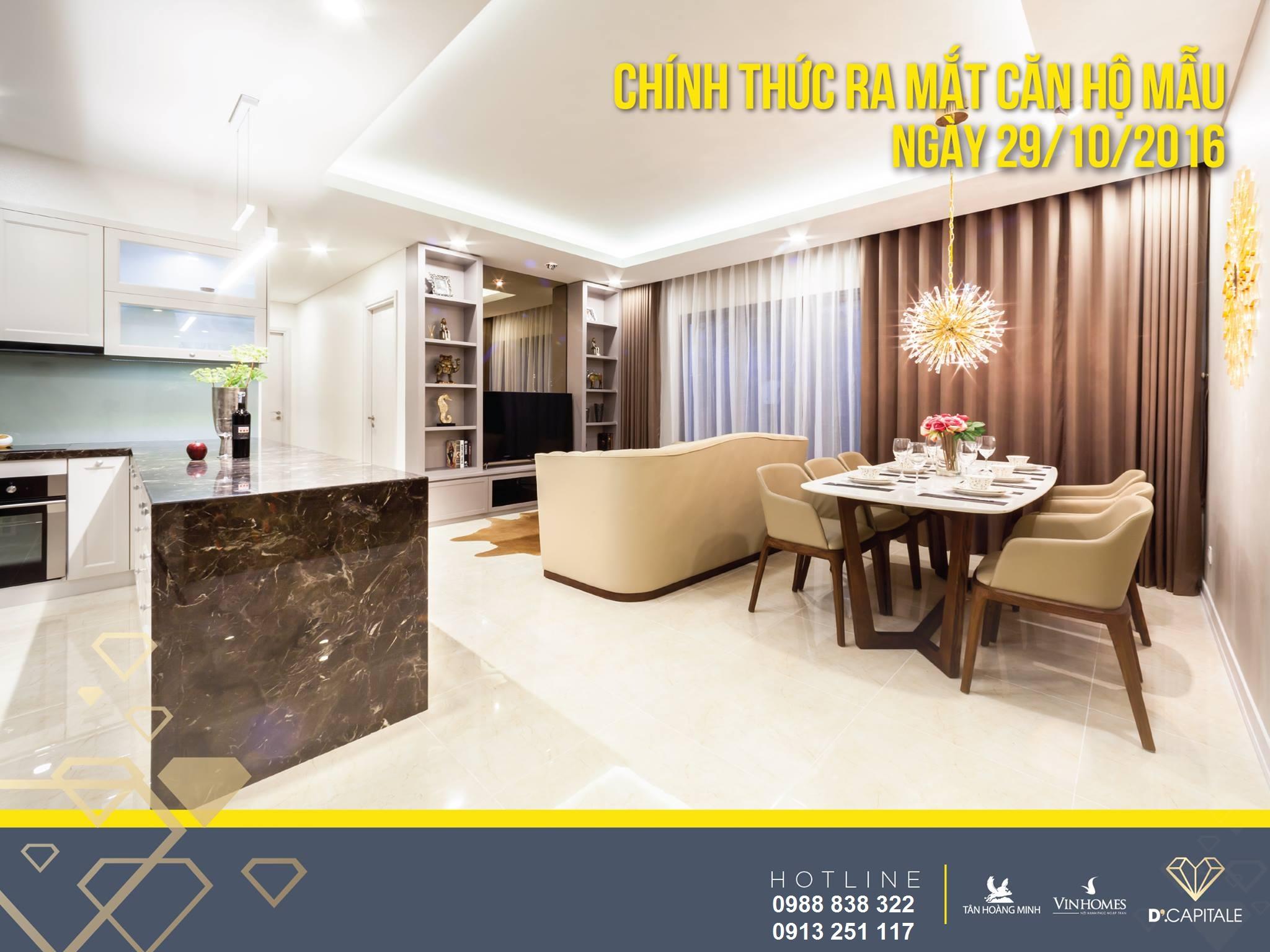 Chính thức khai trương căn hộ mẫu D'Capitale ngày 29/10/2016