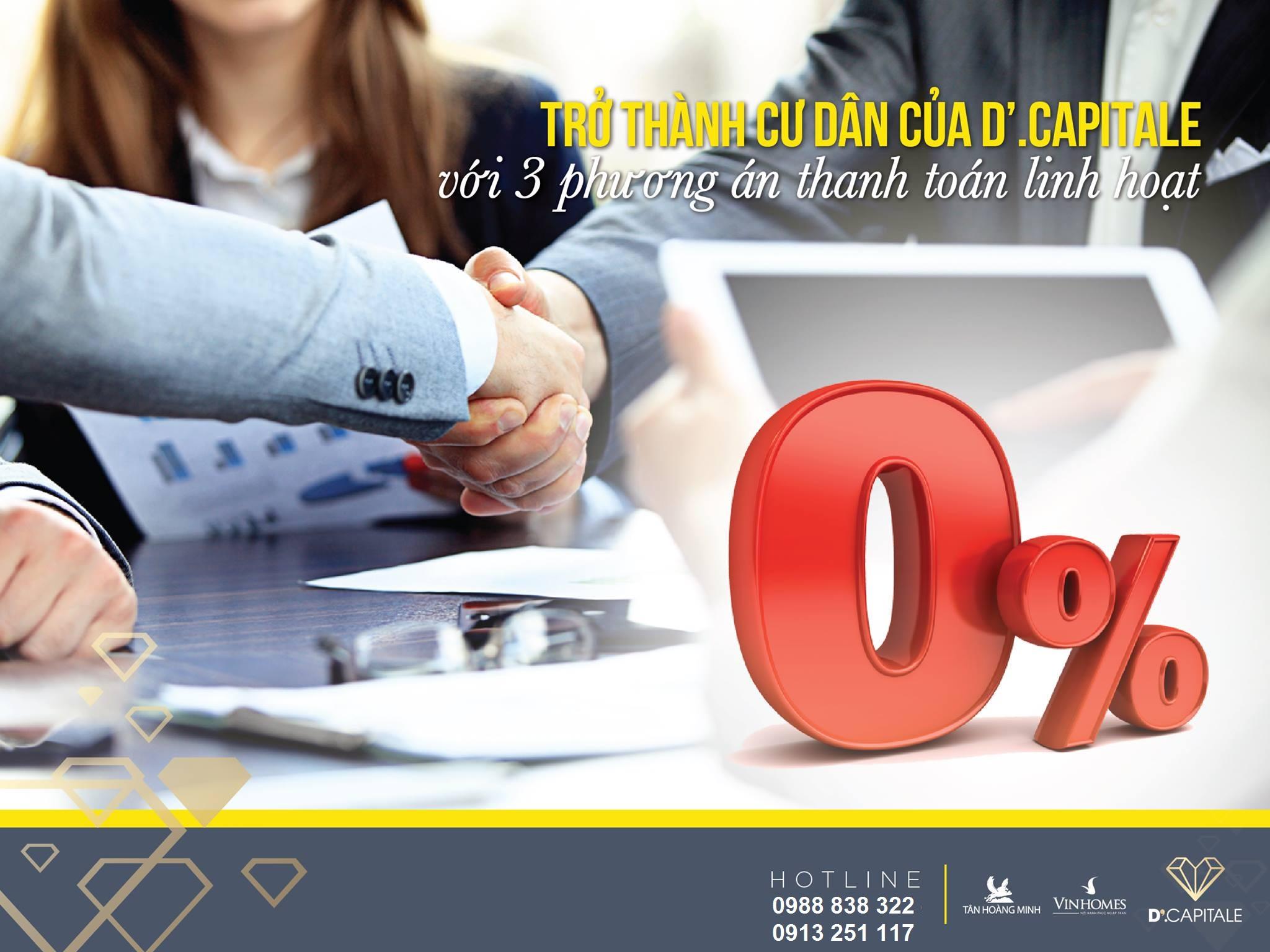 Chính sách bán hàng D'capitale - 3 phương thức thanh toán linh hoạt
