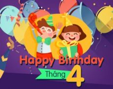 Chúc mừng sinh nhật tháng 4