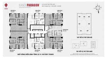 Mặt bằng dự án chung cư Hà Nội Paragon